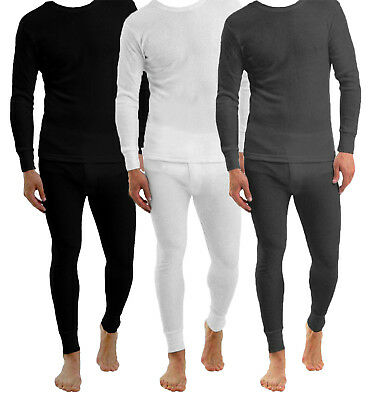 Mens Thermal Long Johns Top Bottom Underwear Trousers T Shirt Set S M L XL XXL