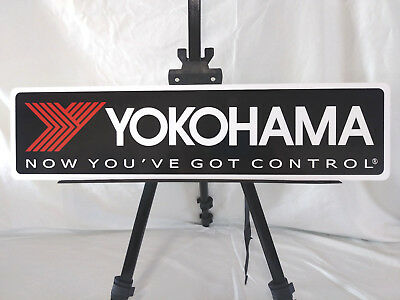 """YOKOHAMA Tires metal sign 6"""" x 24"""" (Free Decals with your Purchase)"""