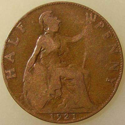 1921 English Half Penny (England, Great Britain, United Kingdom)