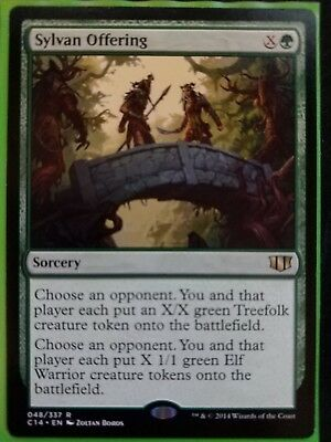 MTG Sylvan Offering Commander 2014 C14