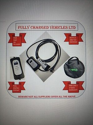 Renault Zoe ZE40 EV charger 5m. Portable charger so charge at home/work.