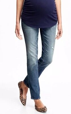 "OLD NAVY Maternity Skinny Jeans Full Panel Size 16 Short 30"" Inseam NWT"