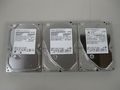 "(Lot of 3) Hitachi SATA 500GB 3.5"" 7200RPM Desktop Hard Drives - Tested"