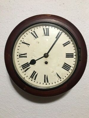 1950's English Fusee 8-Day Wall Clock Elliott London Working With Key
