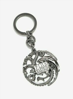 Game of Thrones Targaryen Fire and Blood Keychain