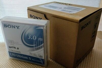 5 X Sony LTX1500G Ultrium 5Gen LTO-5 1.5TB 3.0TB BackUp Data Tape Cartridges