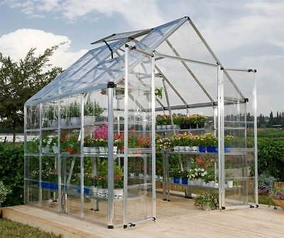 HobbyGrower Snap & Grow Aluminum Frame Greenhouse - 8 ft. x 8 ft [ID 332924]