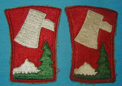 Original WWII 70th Division patch Lot (2) Variations