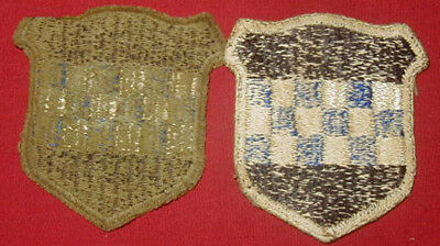 Original WWII 99th Division patch Lot (2) Variations Used - Greenback