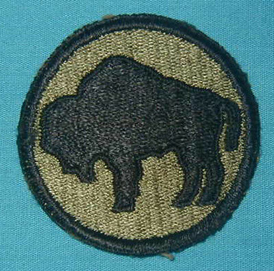 Original WWII 92nd Buffalo Division patch