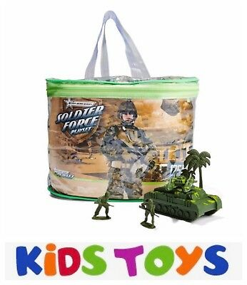 125 Piece Army Soldier Adventure Kids Toy Play Set Figures in Storage Bag Pack