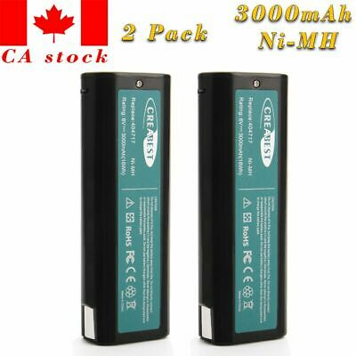 2x Creabest Ni-MH 3.0AH 6V 404717 Battery For Paslode 902200 IM50 IM65 IM350A