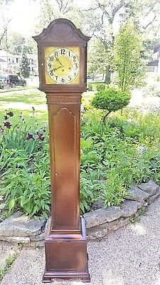 Antique Art Deco Colonial Junghans Movement Westminster Chime Grandmother Clock