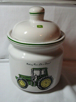 John Deere Canister-Cookie Jar with Lid-by Gibson-Nothing Runs Like a Deere-10in