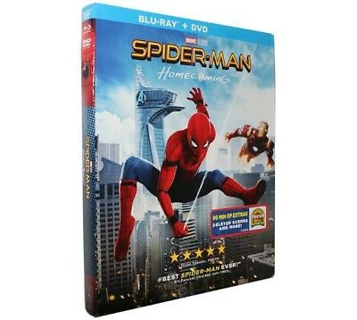 Spider-Man Homecoming 2017 Blu-Ray/DVD w/ Slipcover Movie New Marvel US SELLER