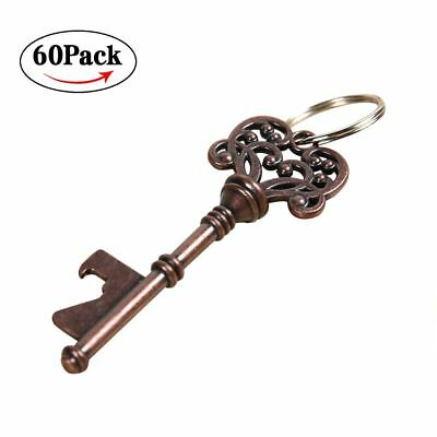 60pcs Vintage Metal Skeleton Key Beer Bottle Opener Barware Bridal Wedding Favor