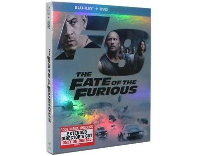 The Fate Of The Furious 2017 Blu-Ray/DVD w/ Slipcover Movie New US SELLER