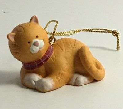 Russ Wags to Whiskers Handpainted Ornament Orange Cat