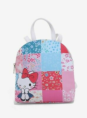 Hello Kitty Patchwork Mini Backpack by Loungefly
