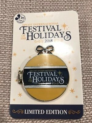 Disney EPCOT Festival of the Holidays 2018 Passholder Pin LE 1750 Mickey Minnie