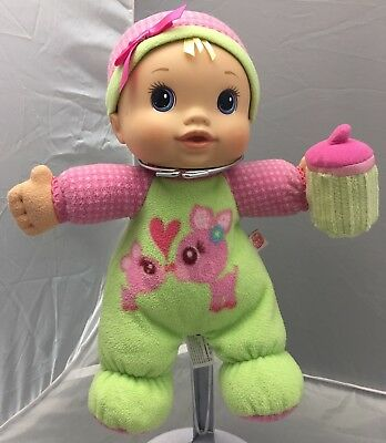 Hasbro 2009 Baby Alive Soft Sips & Cuddles Soft Plush Kids Doll.Clean.Works.