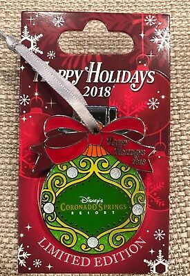 Disney Happy Holidays 2018 Coronado Springs Resort Pin LE 750 Goofy With Pressnt