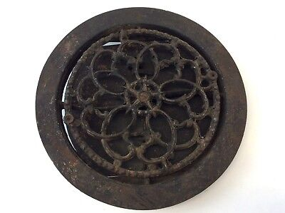 Antique Old Patented 1883 Swivel Cast Iron Wall Heating Vent Grate Architectural