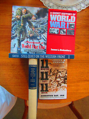 4 Books WWI, World War One Photo History, 11th Month 11th Day 11th Hour