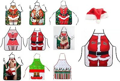 Funny Sexy Apron - For Christmas Holiday, Novelty Party, GAG Gift, BBQ