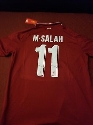 4c2b32f18e Extra Large Liverpool Mohamed Salah New Balance Home Soccer Jersey 2018-2019