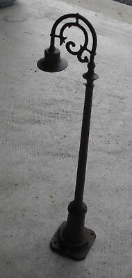 """Pre-War Lionel Ives Standard Scale Rusted Burnt Lamp Post 13"""" Tall Unique Look"""