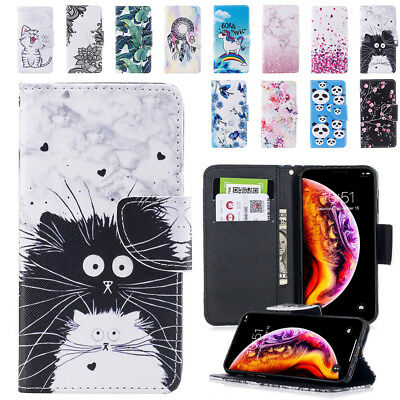 Case for Apple iPhone 6 7 8 5S SE Plus XS XR Cover Magnetic Leather Flip Wallet