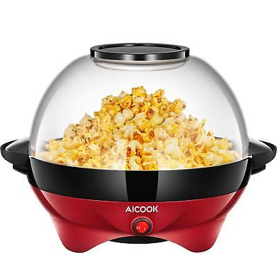 Aicook Machine de Pop-corn 1200W Machine à pop-corn Plateau