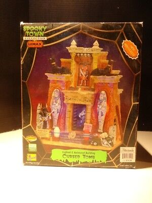 Halloween Lemax Spooky Town Cursed Tomb - Mummy Dept 56 Works perfect