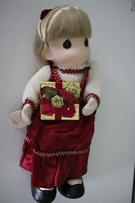 Precious Moments Leah Christmas 16' Doll Vintage 1997 Limited Edition of 3000