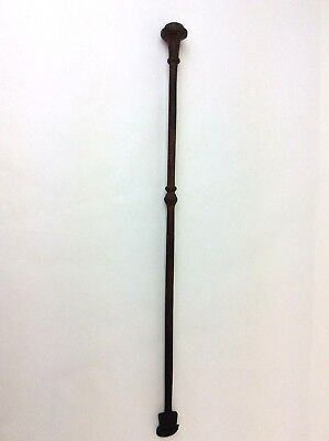 Antique Old Wrought Iron Metal Fireplace Poker Rod Woodstove Tool Hearth Ware