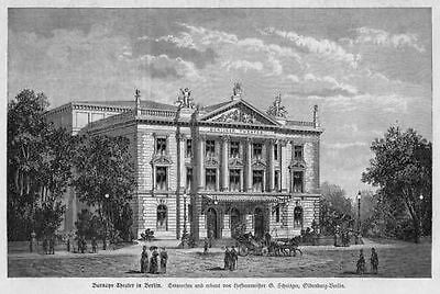 BERLIN  DAS BARNAYS THEATER  Holzstich 1889
