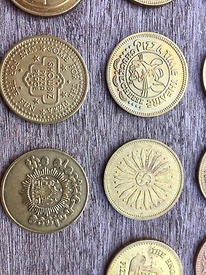 Vintage Lot of 14 Tokens - Early 80's Portland, Oregon Arcades