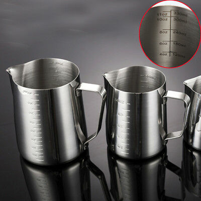 1PC Stainless Steel Coffee Cup Milk Frothing Jug Espresso Latte  Foam Container