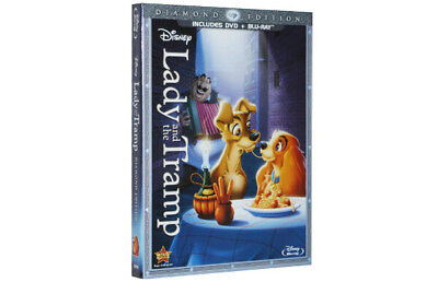 Lady And The Tramp Disney 2012 Blu-Ray/DVD Diamond Edition Movie New Sealed