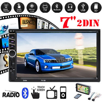 7inch Touch Screen Full HD 1080P MP5 Player Bluetooth 2Din Car Backup Monitor