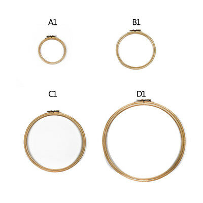 """Budget Wooden Bamboo Embroidery Cross Stitch Ring Hoop 5"""" to 10"""" 1pcs new"""