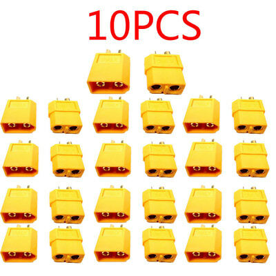 Male Female XT60 Wire Connector Yellow Bullet RC Power Lipo Plug Battery 1-10PCS