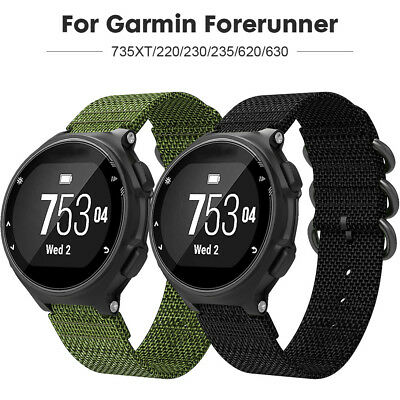 Big Sale! Sport Nylon Strap for Garmin forerunner 735XT/220/230/235/620/630 UK