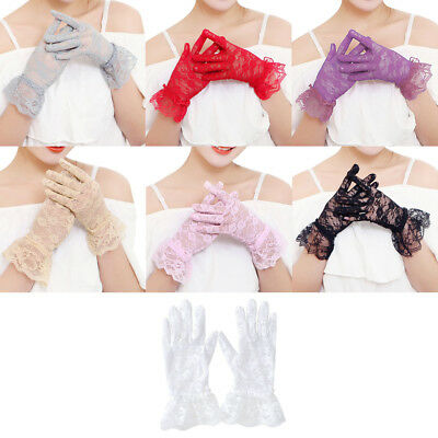 Women Party Sexy Dressy Gloves Lace Gloves Wedding Gloves Mittens Full Finger