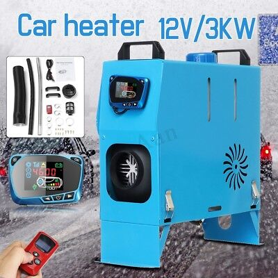 3KW 12V All In One Air Diesel Heater LCD Monitor + Remote 3000W Trucks Boats Bus