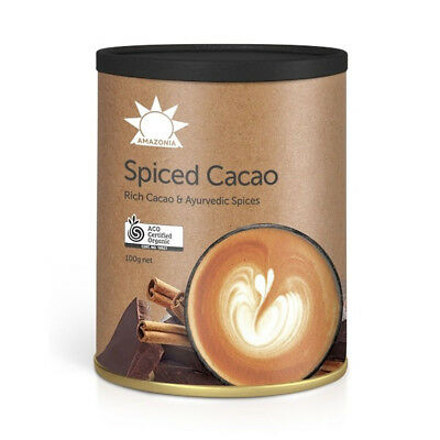 Amazonia Spiced Cacao - Rich Cacao & Ayurvedic Spices 100g