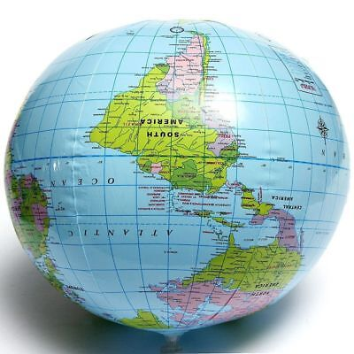 Beach Ball Geography 16 Inch Educational 40cm World Map Globe Inflatable Toys E
