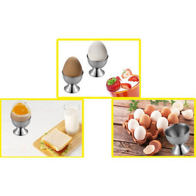 Kitchen Egg Cup Breakfast Stainless Steel Hard Boiled Egg Cup Holder Tabletop 8C