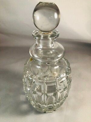 Vintage USSR Russian Cut Crystal Decanter Carafe - 24 oz - Never Used